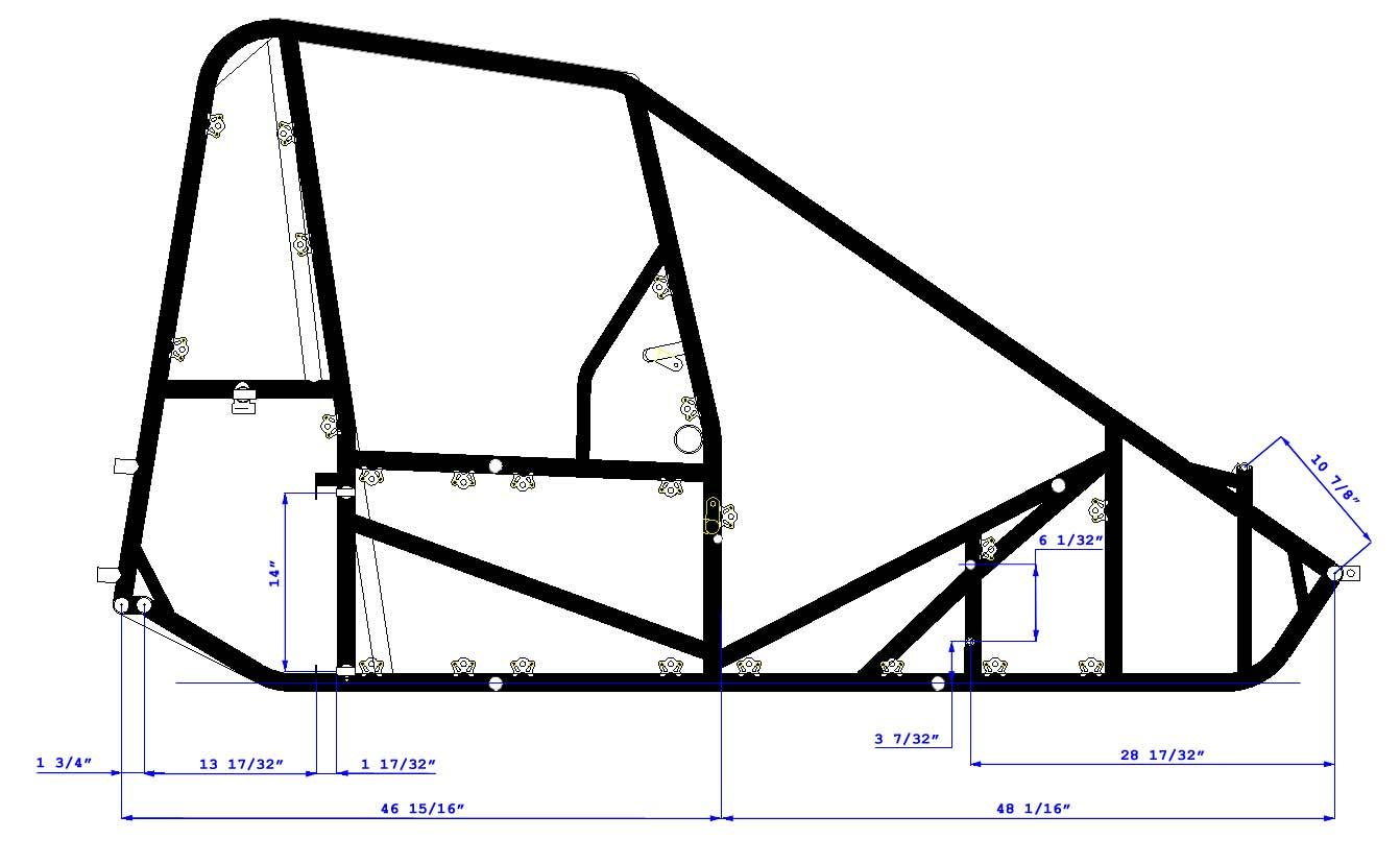 Triple X Race Co Midget Chassis Dimensions