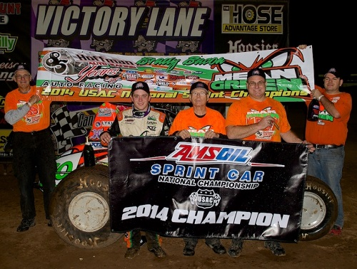 Brady Bacon USAC Sprint Car Champion