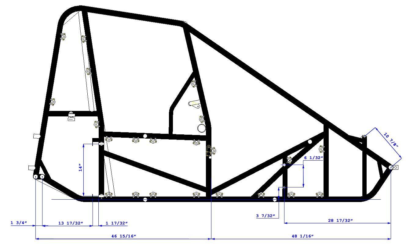 Triple X Race Co : Midget Chassis Dimensions