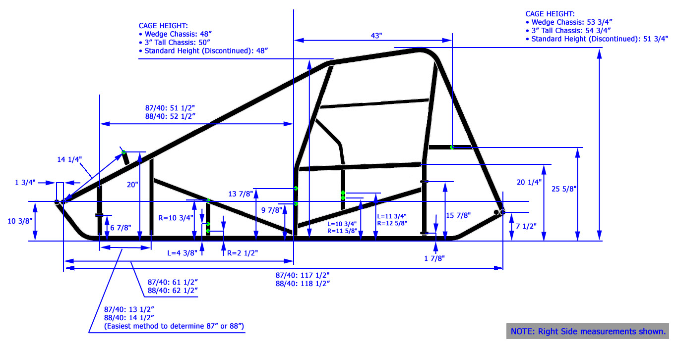 Triple X Race Co : Sprint Car Chassis Dimensions